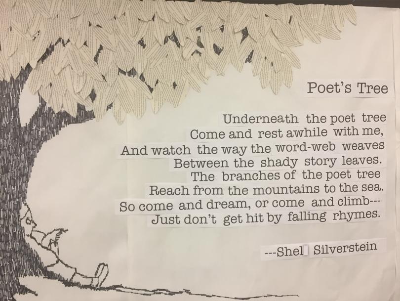 Shel Silverstein Bulletin Board Juniper Elementary Poetry