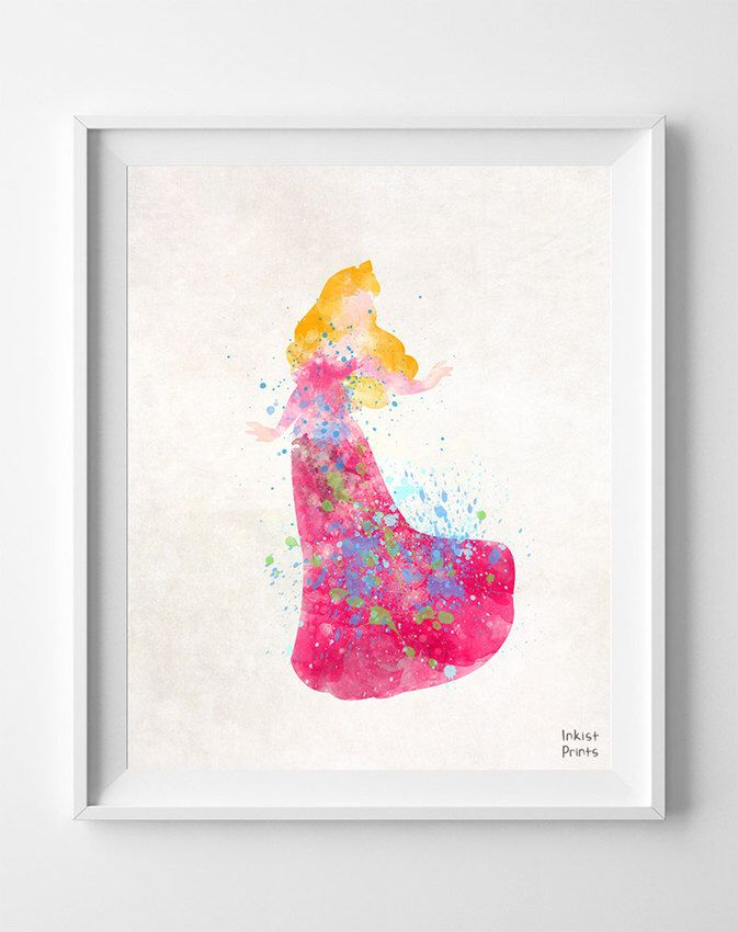 Sleeping Beauty, Print, Art, Princess aurora, Disney Princess, Princess, Watercolor Painting, Poster, Illustration, Nursery [NO 346] by InkistPrints on Etsy https://www.etsy.com/listing/193888086/sleeping-beauty-print-art-princess