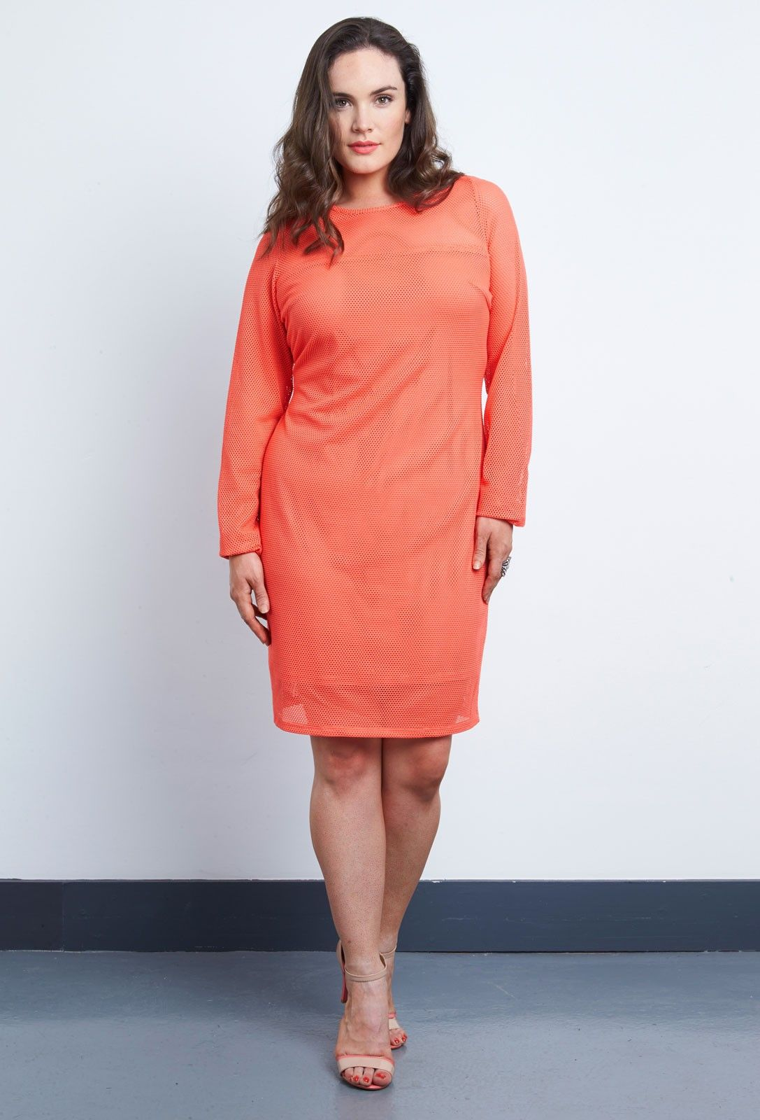Net mesh bodycon dress from anna scholz plus size dress collections