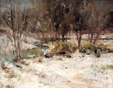 Stream in Winter - By Lester B. Lee