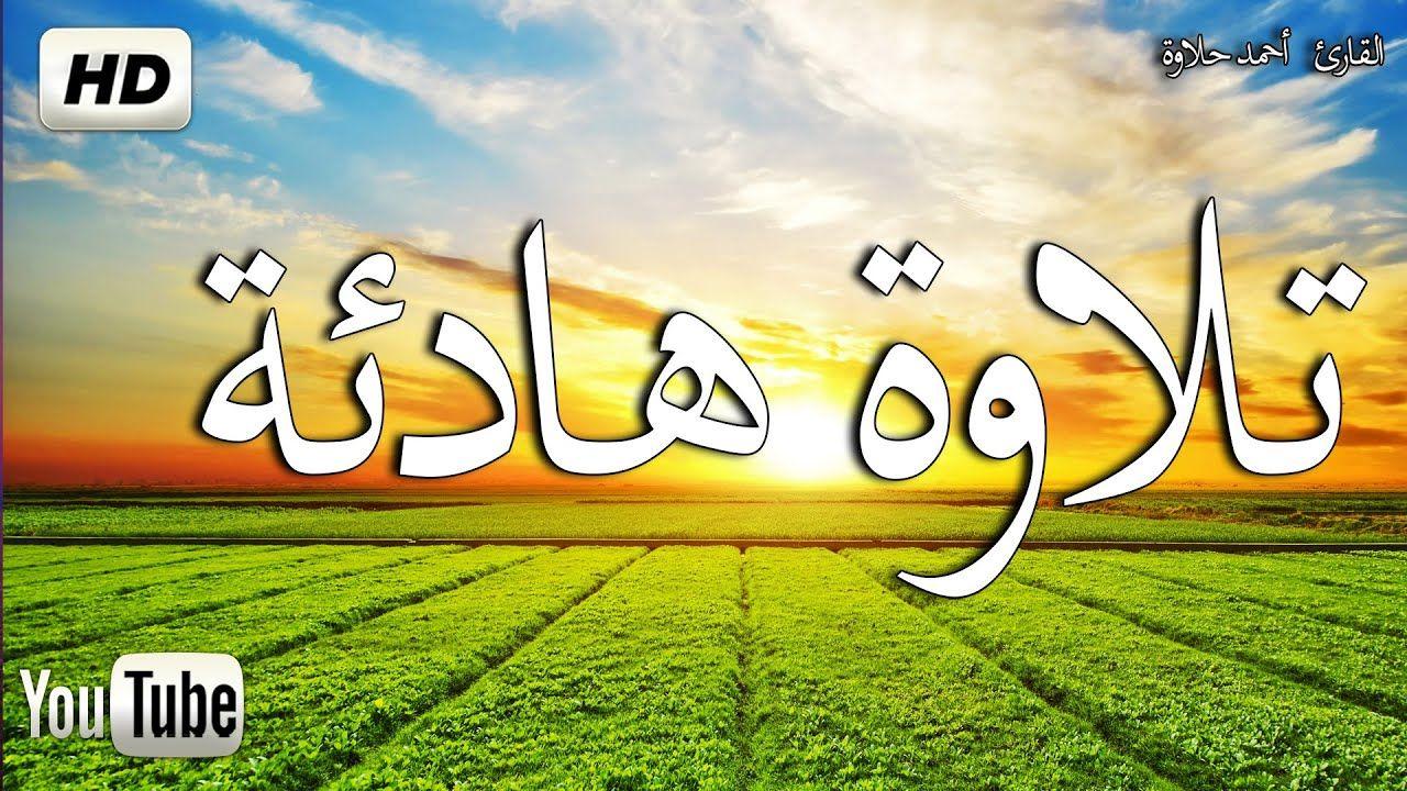 تلاوة هادئة تريح القلب قران كريم يفرج الهم والغم صوت جميل جدا سبحان Arabic Calligraphy Quran Beautiful