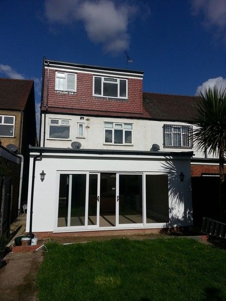 Gut Single Storey Flat Roof Extension Joins Pitched Roof   Google Search