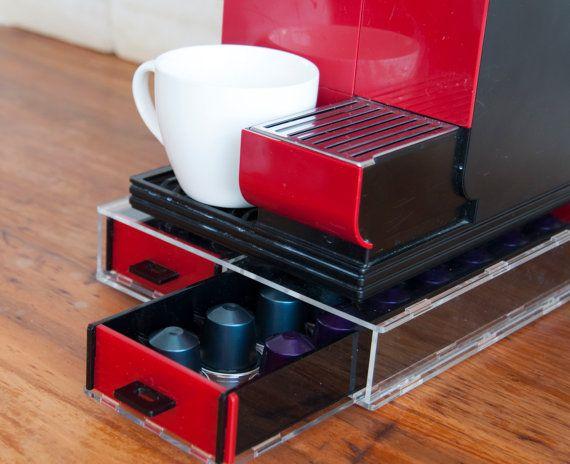 Large Nespresso Pod Storage Drawer, Red Coffee Pod Holder, Coffee  Organizer, Office Storage Unit Kitchen Decor Home Design, CounterTop Stand
