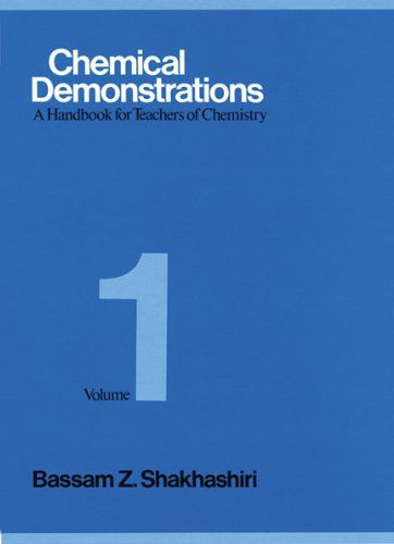 Chemical Demonstrations A Handbook For Teachers Of Chemistry
