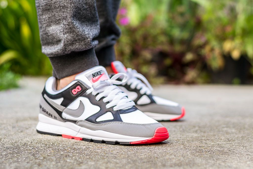 Nike Air Span II Solar Red On Feet