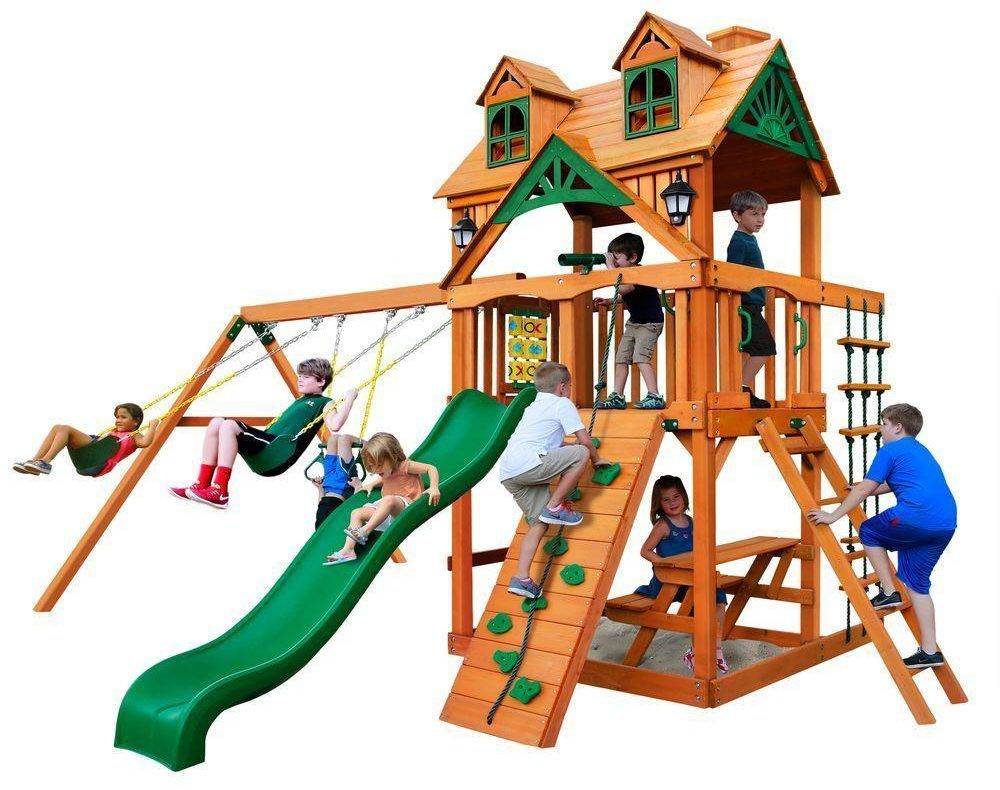 Pin by Lizzy's Faves on Big Backyard Swing Set | Wooden ...