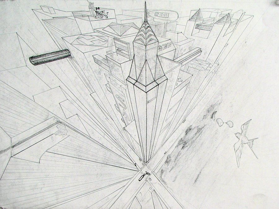 Cityscape 3 point perspective by Jinzo-eX on DeviantArt | Point ...