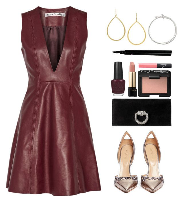 """""""Untitled #2164"""" by robertagrandal ❤ liked on Polyvore featuring Acne Studios, Sergio Rossi, Gucci, Ippolita, Balenciaga, OPI, Lancôme and NARS Cosmetics"""