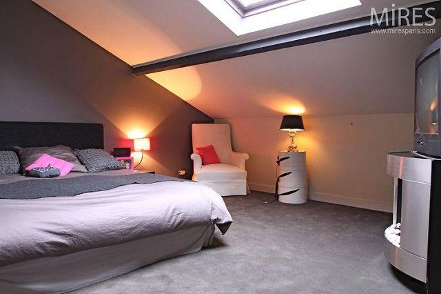 Chambre mansard e moderne recherche google d co chambre kaylyne pintere - Deco chambre mansardee ...