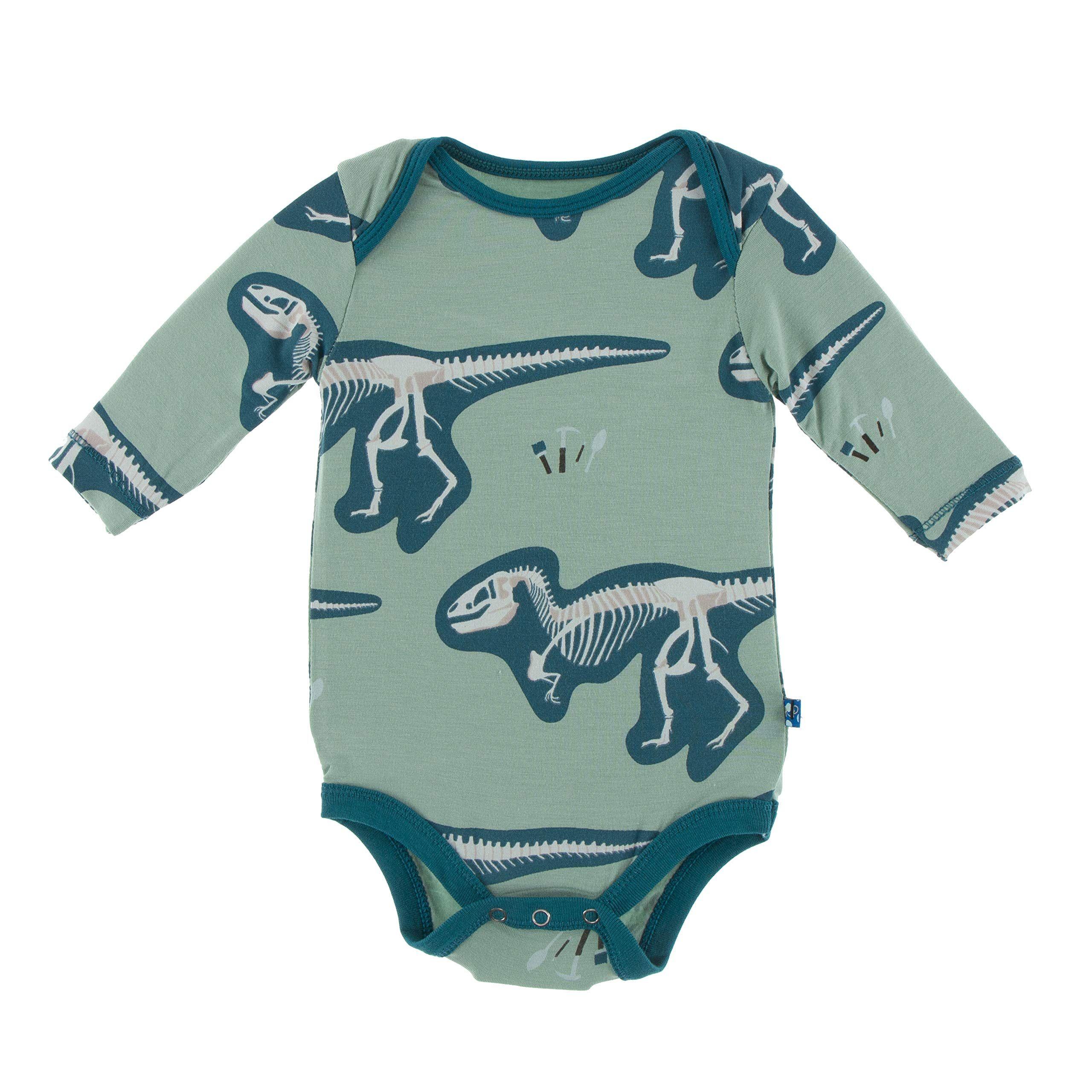 Infant Cotton Romper Pack of 4 SOBOWO Baby Boys Girls Long-Sleeve Bodysuit Unisex Baby Solid Bodysuit
