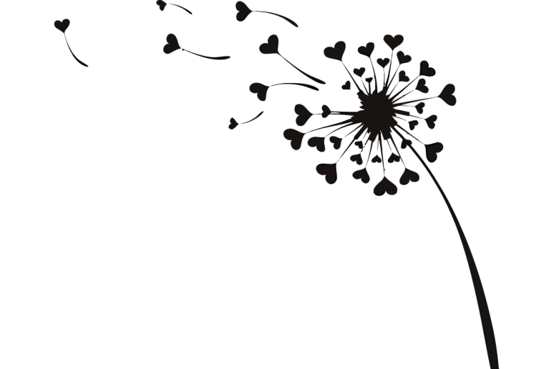 Flying (EPS,AI,PDF,SVG, Hearts Dandelion PNG Love Vector