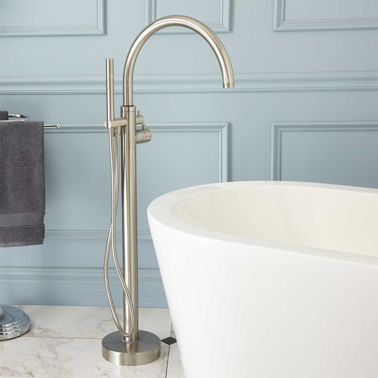 Linnea Freestanding Thermostatic Tub Faucet | Faucet, Tubs and Bath