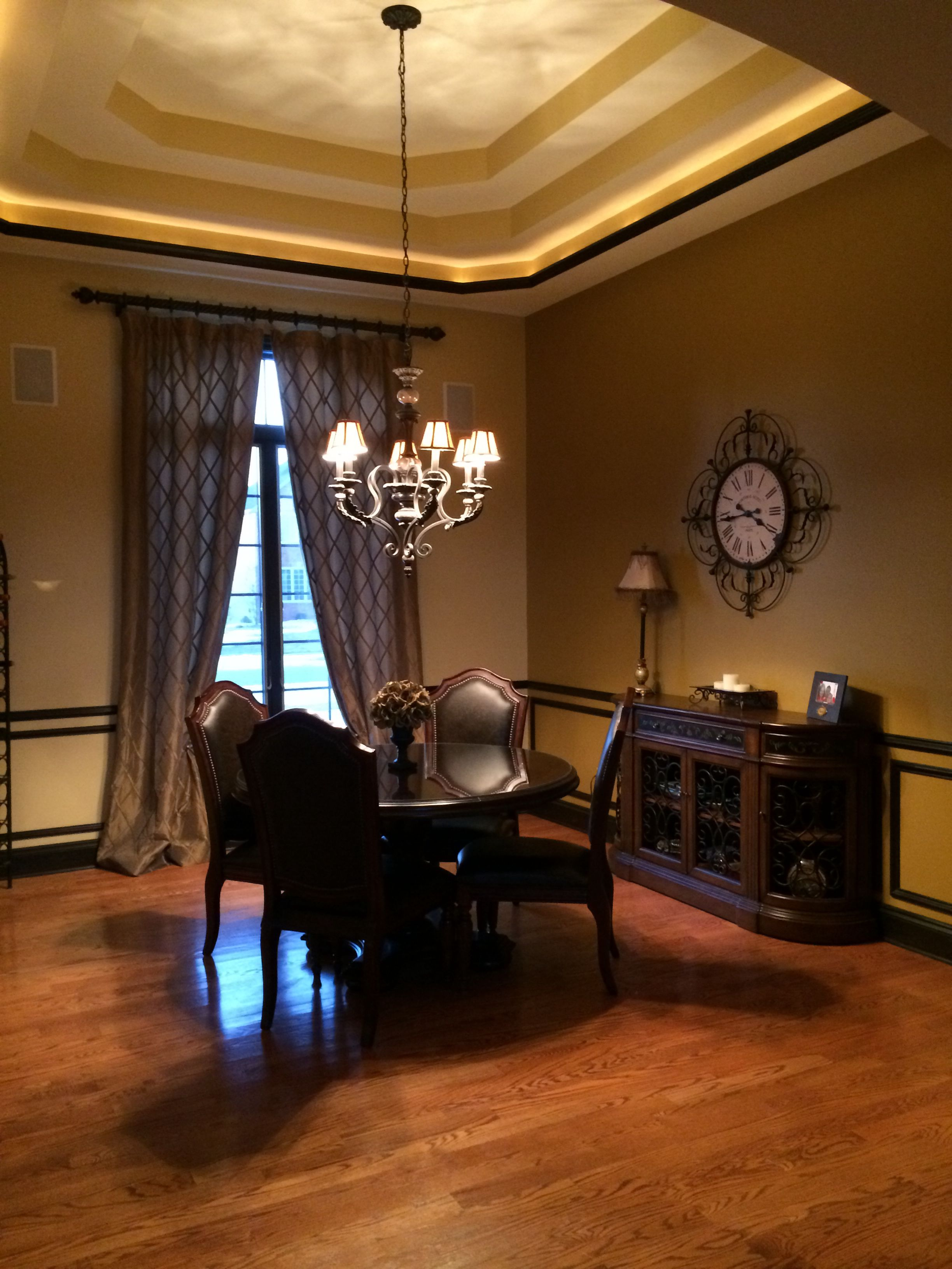 tray ceiling rope lighting. Formal Dinning Room...three Tray Ceiling With Rope Lighting In Crown Molding To T