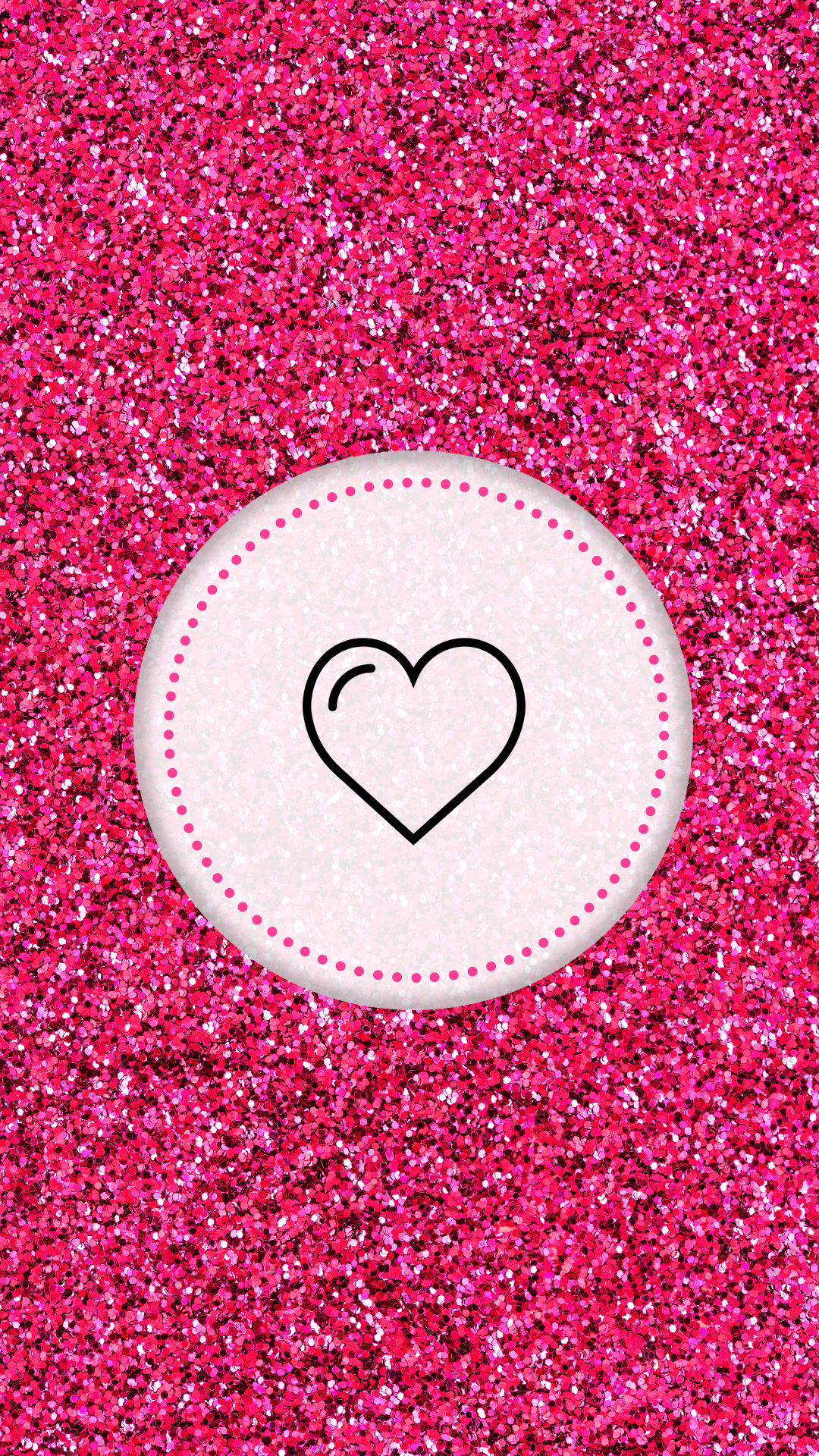 Instagram Highlight Cover Pink Glitter Heart Pink Instagram Instagram Logo Instagram Icons