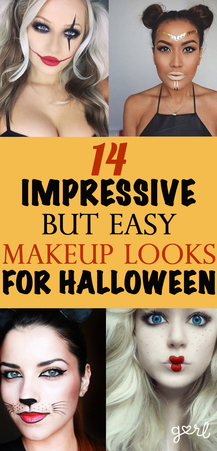 15 Impressive But Easy Halloween Makeup Tutorials Even