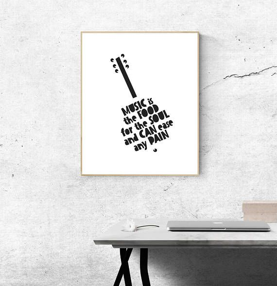 Quote About Music Music Quote Print Music Speaks Musical Quote Prints Music Print Music Lover Quote