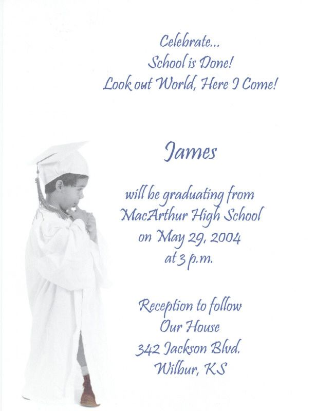 graduation invitation wording – 8th Grade Graduation Invitations