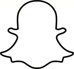 Snapchat Ghost Outline Png Image With Transparent Background Png Free Png Images In 2021 Snapchat Logo Snapchat Icon Black And White Logos
