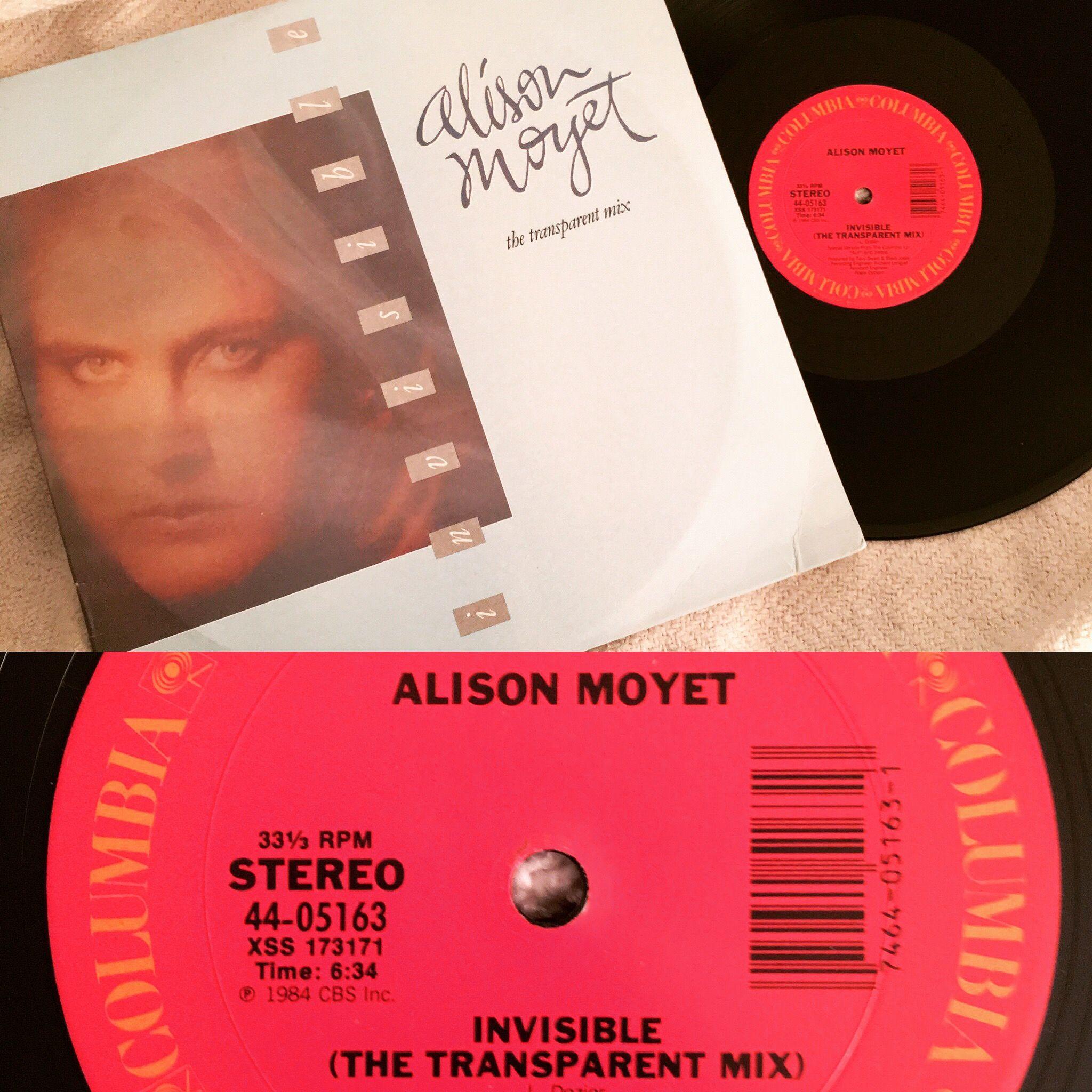 Alison Moyet Invisible The Transparent Mix 12 Inch Vinyl Single Alison Moyet