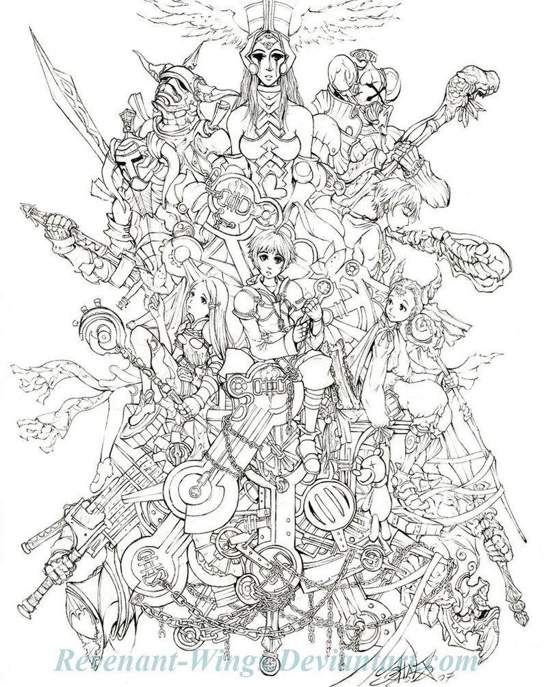 Final Fantasy Tactics Artes Colorir