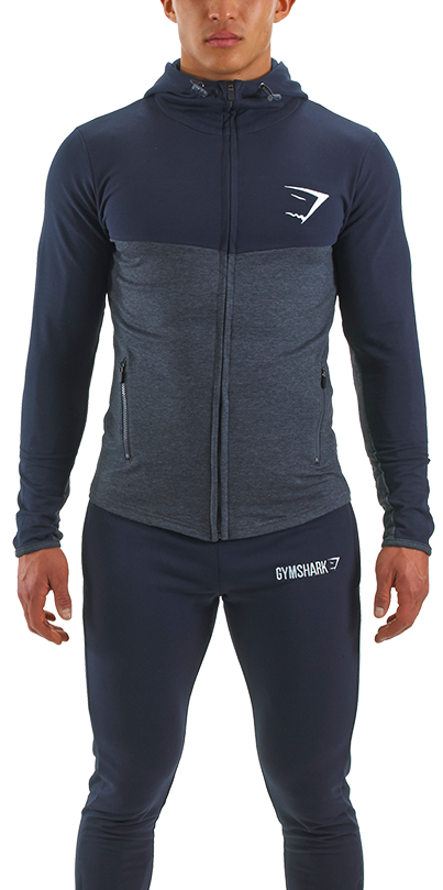 enjoy best price innovative design cheapest Gymshark Fit Hooded Top 1.0 - Navy Blue/Graphite - Sale ...