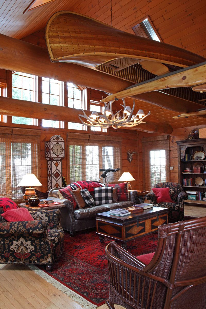 How To Capture Adirondack Style In Your Cabin Cabin Living Cabin Living Room Cabin Living Cabin Style