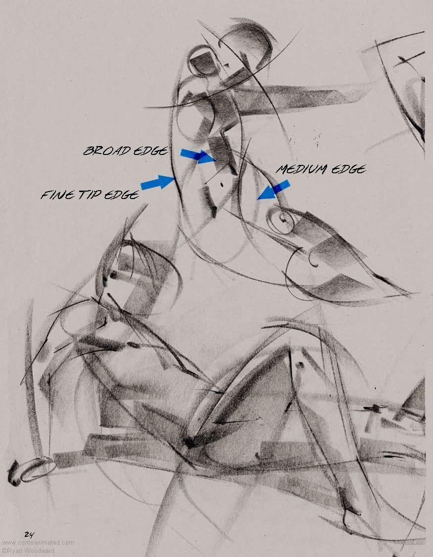 Ryan Woodward Artist Sketch Drawing Pose Body Gesture Pencil