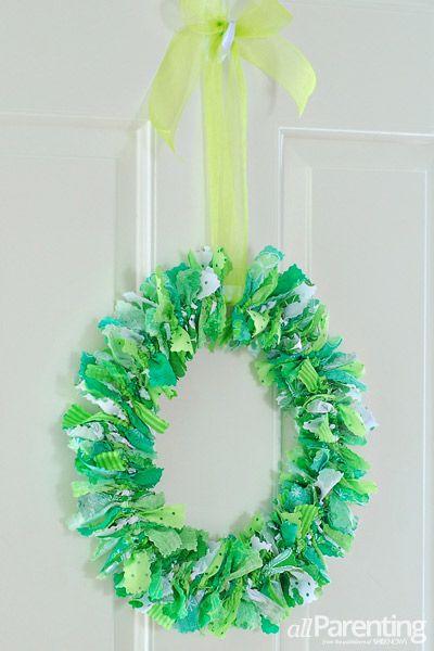 Photo of St Patricks day rag wreath