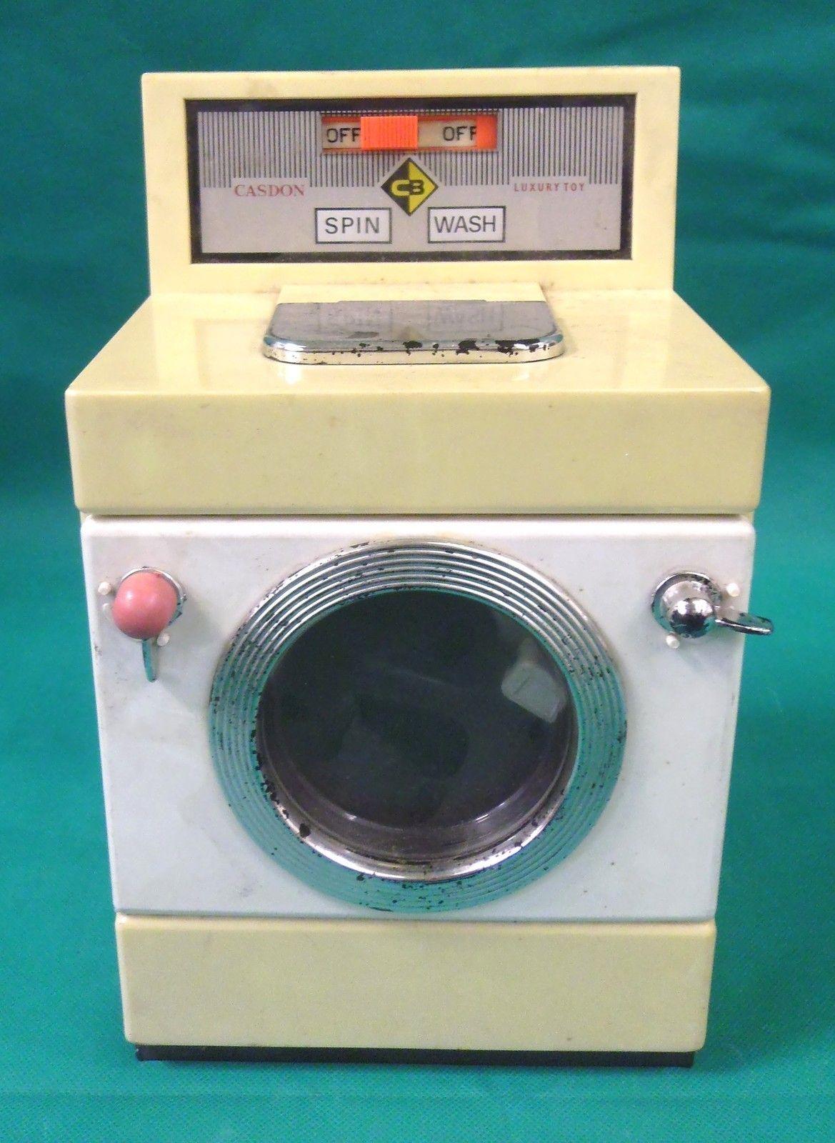 Vintage Casdon Childrens Toy Cream Amp White Washing Machine