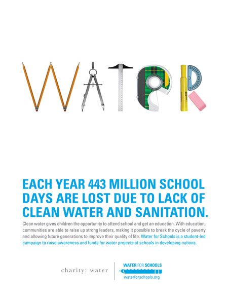 Charity Water Poster 2 | Posters | Pinterest | World, 2! and Events