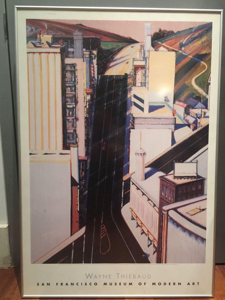 Wayne Thiebaud Poster Framed 28 X 40 Poster Frame Jr Art Poster