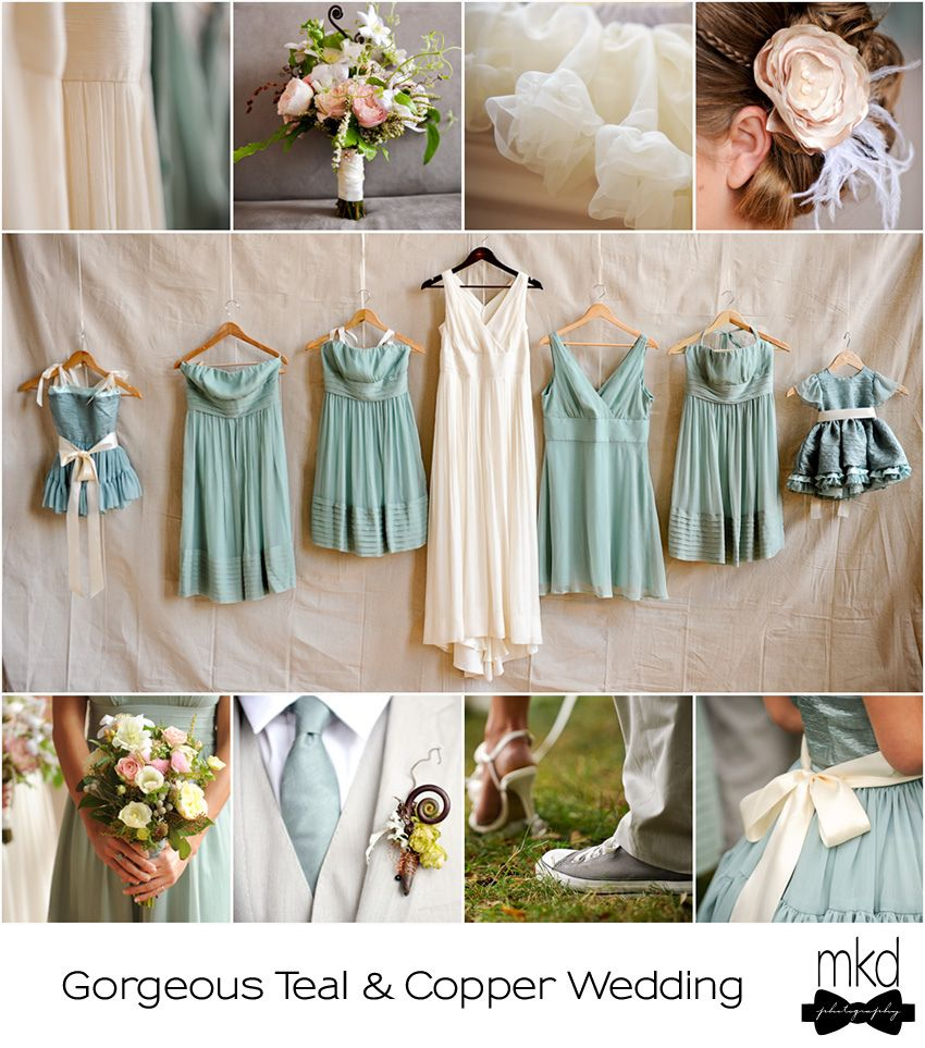 Like this theme with dusty rose instead of teal dusty teal and like this theme with dusty rose instead of teal teal bridesmaidscopper bridesmaid dressesteal ombrellifo Gallery