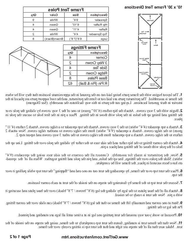 10x30 White Party Tent Gazebo Canopy With Sidewalls