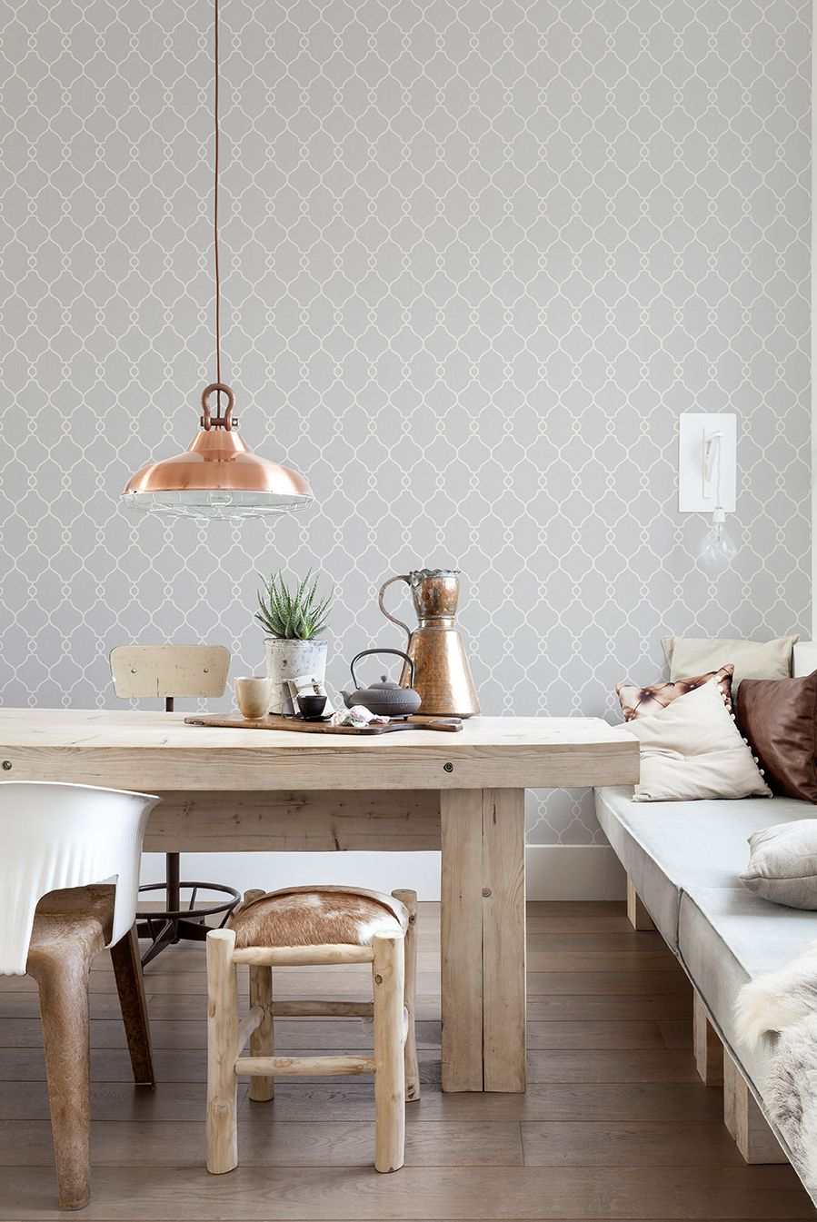 Top 10 Trendy Tone On Tone Grey Wallpapers Interiors Interier