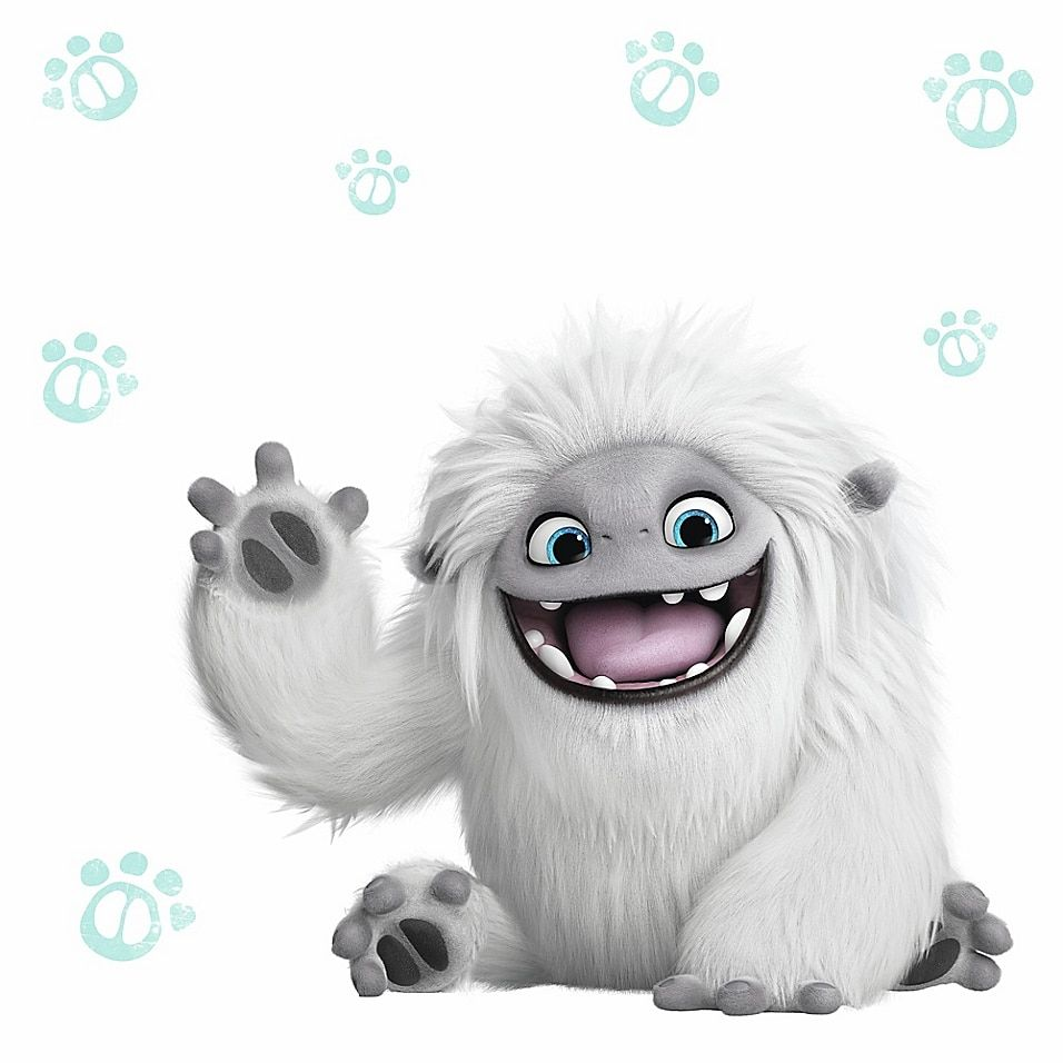 Roommates 10-Piece Abominable Peel And Stick Giant Wall Decal Set White/multi - This RoomMates Abominable Peel and Stick Giant Wall Decal Set offers a fun and colorful way for kids to update the look of their space. These vinyl decals wipe clean and can be removed and repositioned without damaging any wall.