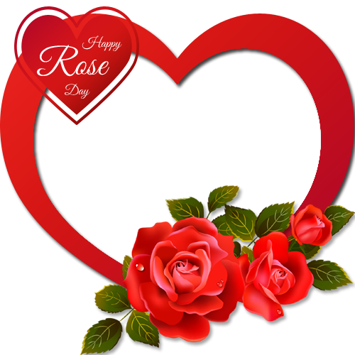 personalize happy rose day heart shape with your photo onlinecreate your valentines day frame