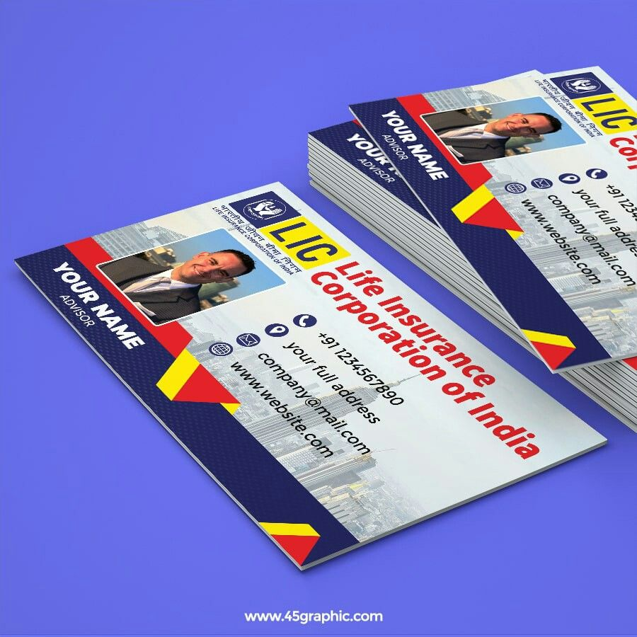 Lic Business Card Visiting Cards Cards Business Card Template