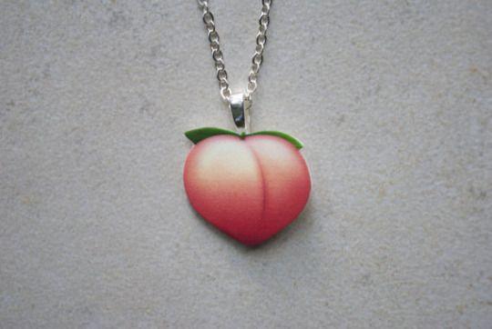 Peach Emoji Necklace Peach Necklace Peach Aesthetic Peach