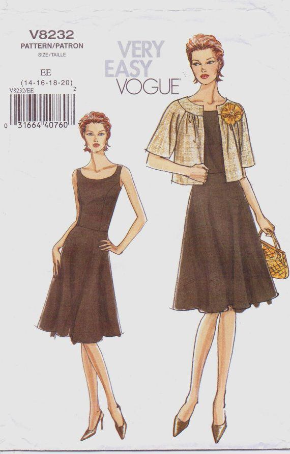 Very Easy Vogue Sewing Pattern V8232 Womens Jacket and Scoop Neck ...