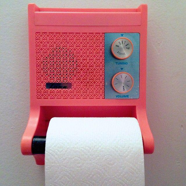 Flamingovintage: U201c The Grooviest Radio/ Toilet Paper Holder Ever  @thedeependclub !! U201d