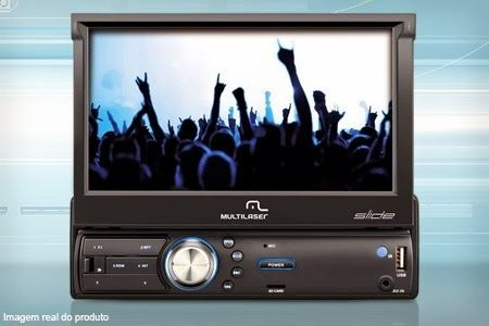 """Compre já a sua Central multimídia Multilaser com tela de 7"""", GPS e TV digital, em 12x sem juros de R$ 58,33 + frete grátis."""