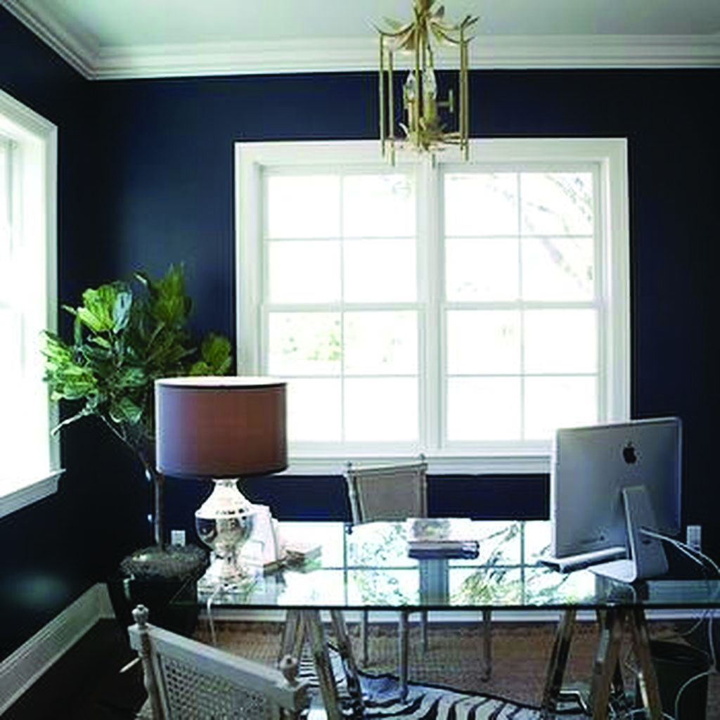 Your Guide To Home Office Recessed Lighting For Your Home Blue Home Offices Home Office Decor Home Office Lighting