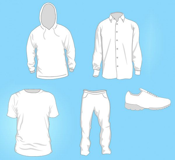 Free Vector Clothing Templates