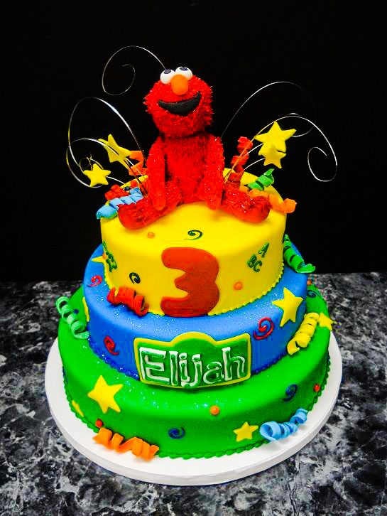 Elmo Cake Oregon Dairy Bakery 222 tags yellow red sesame