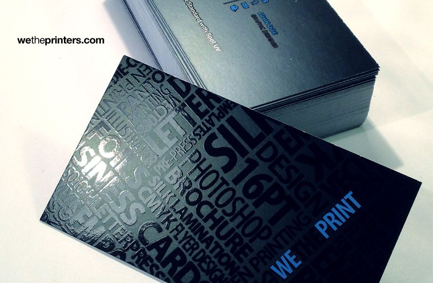 16pt Standard Business Card - This sample card is to show how our ...