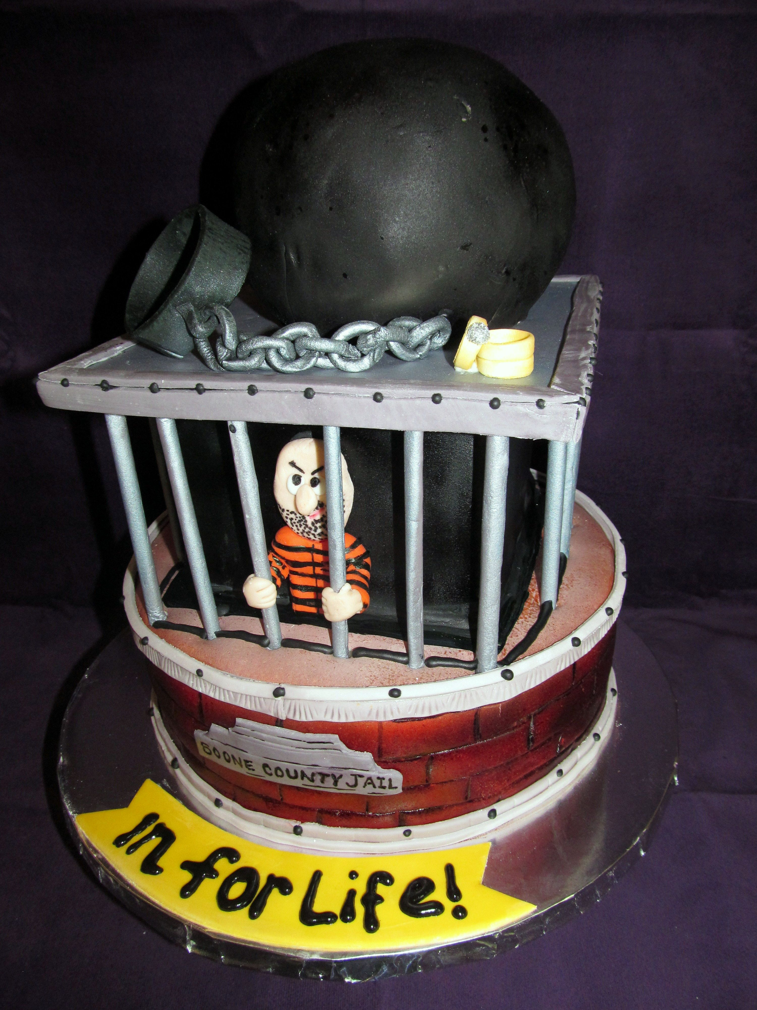 A Jail House Worker S Groom S Cake In 2019 Brides Cake