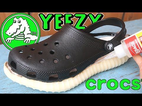 374f2d987ad MAKING THE ADIDAS YEEZY BOOST CROCS!!! Feels 22 Sneakers... THE