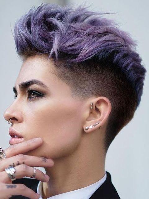 Cortes de cabello para mujer modernos rapados