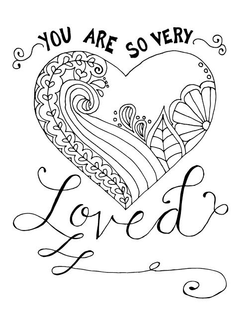 Coloring Page World You Are So Very Loved Love Coloring Pages