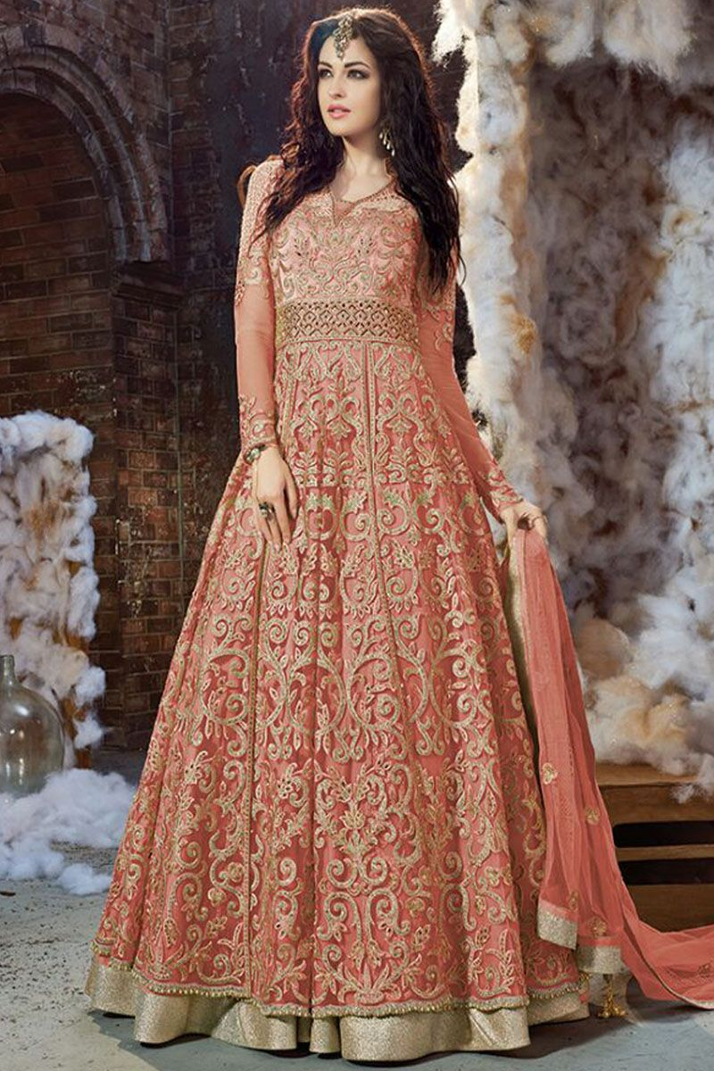 443c3899ae Mehendi Green Color Net Fabric Indian Bride Wedding Wear Traditional  Embroidery with Diamond Work Occasionally Anarkali #zoyacollection  #celebrities ...
